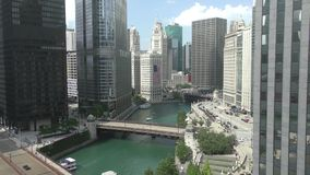 Downtown Chicago stock video