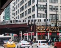 Downtown Chicago train Stock Photo