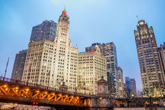 Downtown Chicago View Stock Photo
