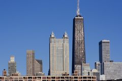 Downtown Chicago from west Royalty Free Stock Photo