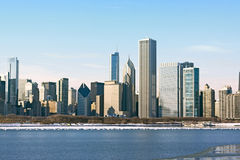 Downtown Chicago in Winter Stock Image