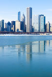 Downtown Chicago (Winter) Stock Images