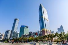 Downtown china : Guangzhou tianhe area stock photography