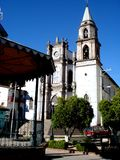 The downtown church of Angangueo Michoacan in Mexico Royalty Free Stock Photo