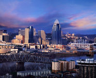 Downtown Cincinnati Royalty Free Stock Photo