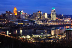 Downtown Cincinnati Royalty Free Stock Images