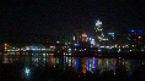 Downtown CINCY ohio dots royalty free illustration