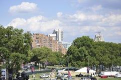Downtown City Benjamin Franklin Parkway from Philadelphia in Pennsylvania USA Stock Photos