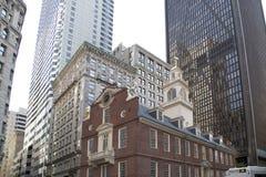 Downtown  of city Boston Mass Stock Photos