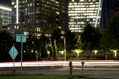 Downtown of city Dallas night scenes Royalty Free Stock Images