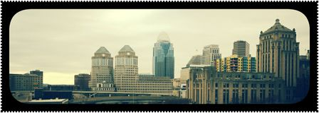 Downtown city life Royalty Free Stock Image