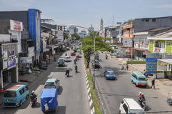 Downtown of The City of Makassar, Indonesia. Makassar, Indonesia. Downtown street of the city Stock Photos
