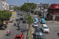 Downtown of The City of Makassar, Indonesia. Makassar, Indonesia. Downtown street of the city Royalty Free Stock Photos