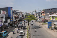 Downtown of The City of Makassar, Indonesia. Makassar, Indonesia. Downtown street of the city Stock Image