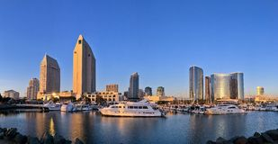 Downtown city panoramic skyline, San Diego, California, USA Royalty Free Stock Image