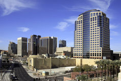 Downtown City of Phoenix Arizona Office Buildings stock image