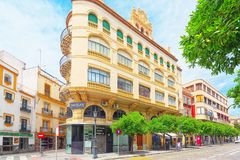 Downtown of the city Seville - is the capital and largest city o Stock Images