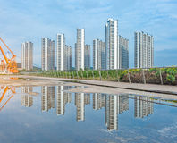 Downtown City skyline along the River in China Royalty Free Stock Image