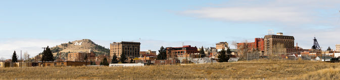 Downtown City Skyline Houses Walkerville Butte Montana USA Royalty Free Stock Images
