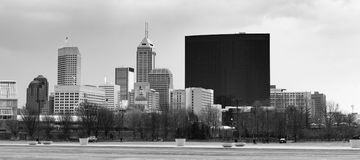 Downtown City Skyline Indianapolis Indiana USA Stock Images