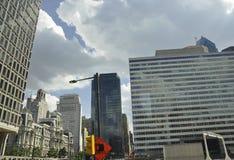 Downtown City Skyscrapers from Philadelphia in Pennsylvania USA Stock Photos