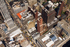 Downtown City Street Birds Eye View New York Royalty Free Stock Image
