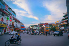 Downtown. City and downtown in vietnam Royalty Free Stock Images