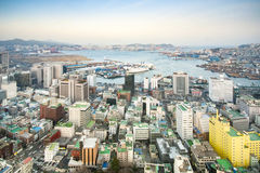 Downtown cityscape of Busan. Royalty Free Stock Images