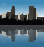 Downtown cityscape at dusk Royalty Free Stock Photography