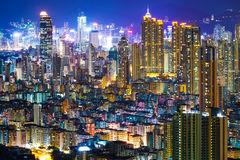 Downtown cityscape in Hong Kong Royalty Free Stock Image