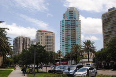 Downtown Clearwater Florida. On a clear summer day Royalty Free Stock Photography