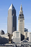 Downtown Cleveland. Downtown of Cleveland - late afternoon royalty free stock photo