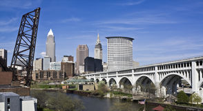 Downtown Cleveland Royalty Free Stock Photography