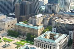Downtown Cleveland aerial Stock Images