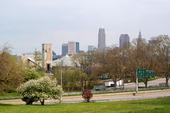Downtown Cleveland from Afar  Royalty Free Stock Photos