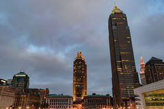 Downtown Cleveland at Dusk Stock Image