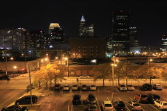 Downtown Cleveland at Night Royalty Free Stock Photo