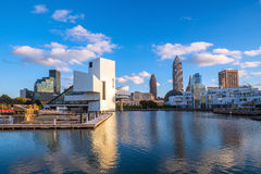 Downtown Cleveland skyline from the lakefront. In Ohio USA Stock Photo