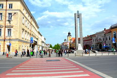 Downtown, Cluj-Napoca, Transylvania Stock Images