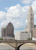 Downtown Columbus royalty free stock photo