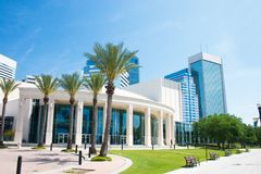 Downtown concert hall. Performing arts center in downtown Jacksonville, Florida Stock Photography