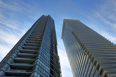 Downtown condo in the upscale location Stock Images