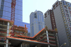Downtown construction Seattle Royalty Free Stock Photo