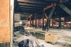 Downtown Construction Site Royalty Free Stock Images