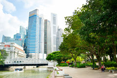 Downtown Core park, Singapore Royalty Free Stock Photography