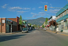 Downtown Creston BC, Canada. Royalty Free Stock Images