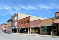 Downtown Creston Iowa. View of the buildings of downtown Creston, Iowa Stock Photography