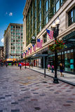 The Downtown Crossing shopping district in Boston, Massachusetts Stock Photos