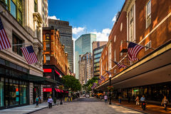 The Downtown Crossing shopping district in Boston, Massachusetts Stock Photography