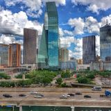 Downtown Dallas. The buildings that make up some of the Dallas skyline Stock Photo